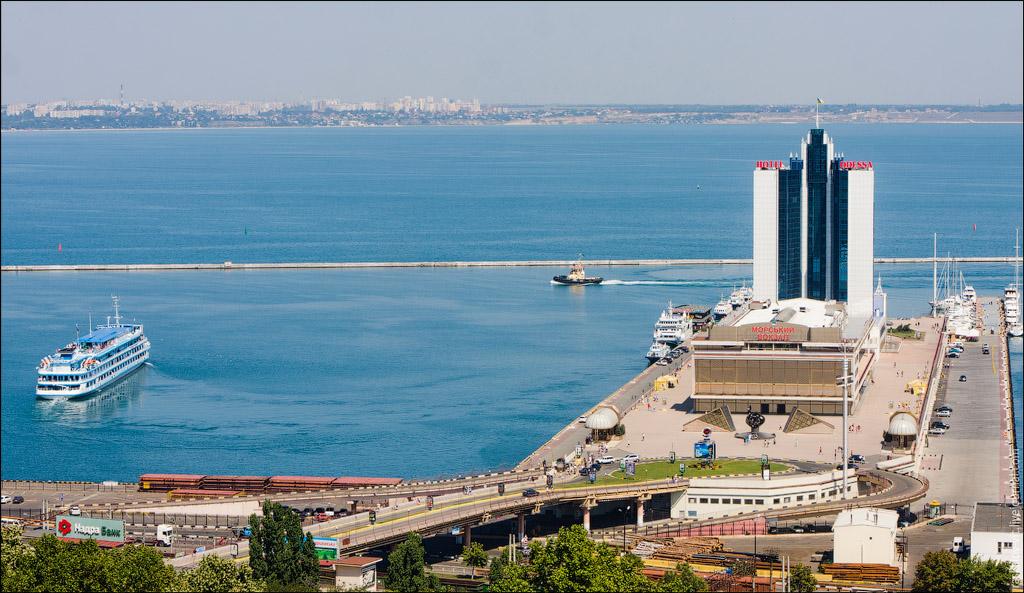Вид на Одесский морвокзал