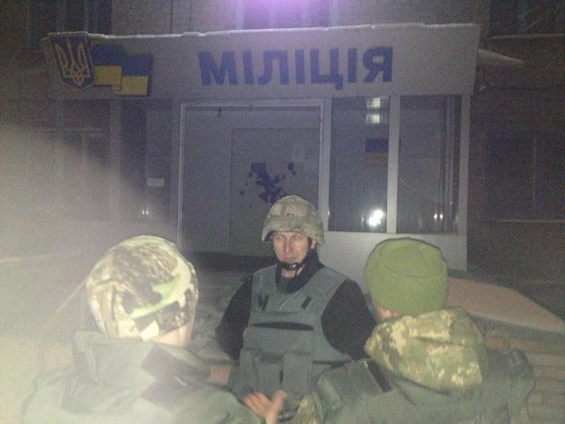В результате попадания снаряда в горотдел милиции Авдеевки пострадали 2 сотрудника, погибших нет