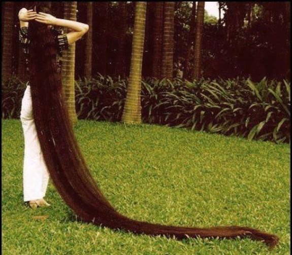 Самый длинный волос в мире.