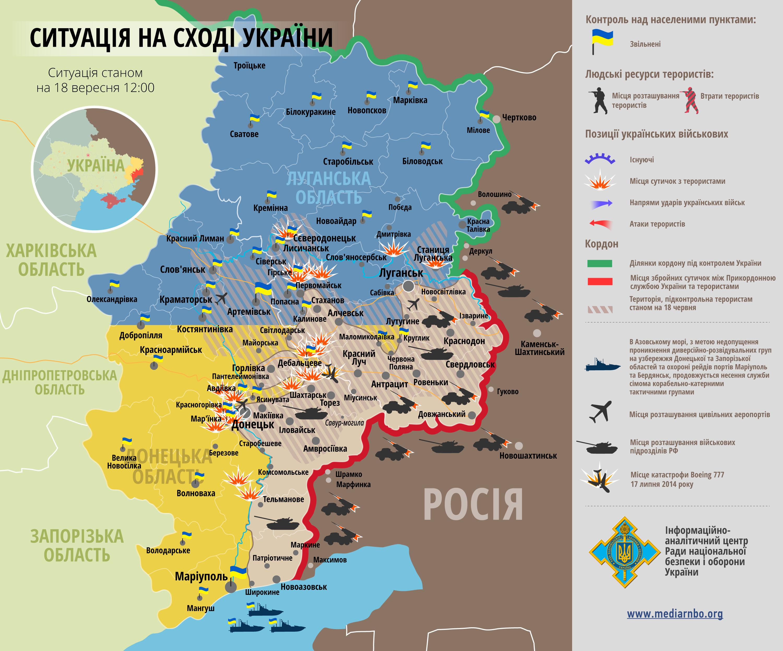 Украинские войска потеряли контроль над частью территорий в Луганской обл., - СНБО
