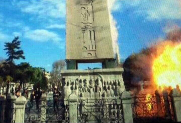 Фото взрыва на площади Султанахмет