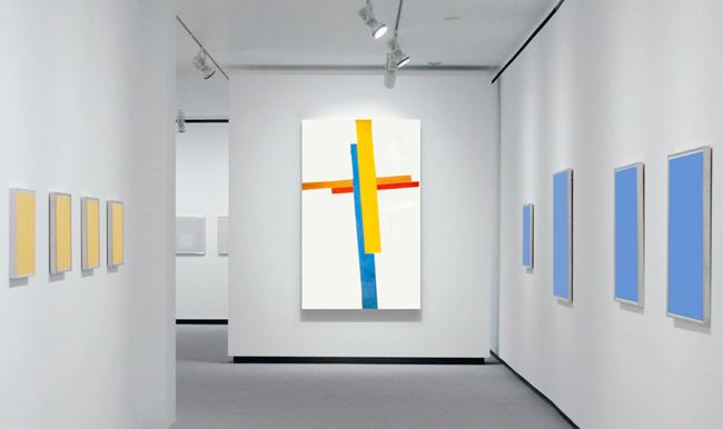 10 сине-желтых картин
