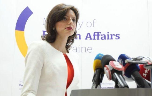 Фото: пресс-секретарь МИД Украины Марьяна Беца
