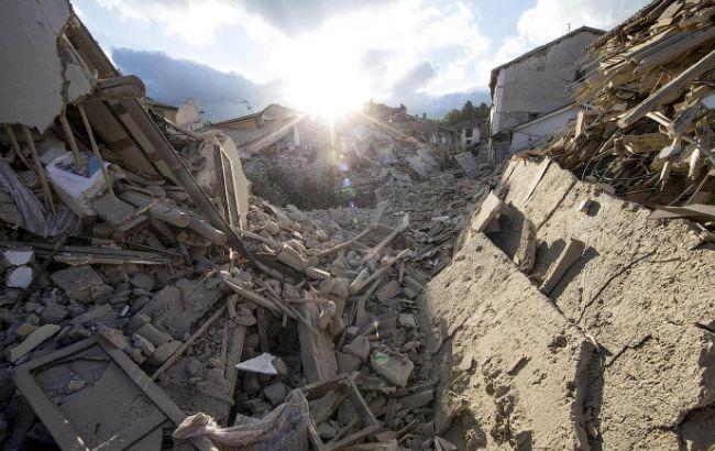 Фото: в Италии разрушена дорога в Аматриче