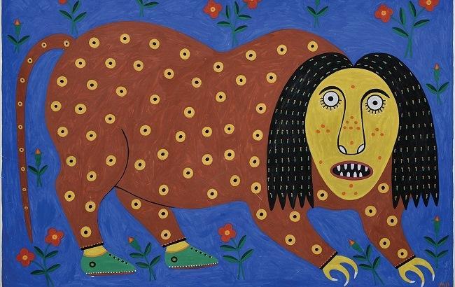 """Робота Марії Примаченко на виставці """"Українське класичне мистецтво ХХ століття"""""""
