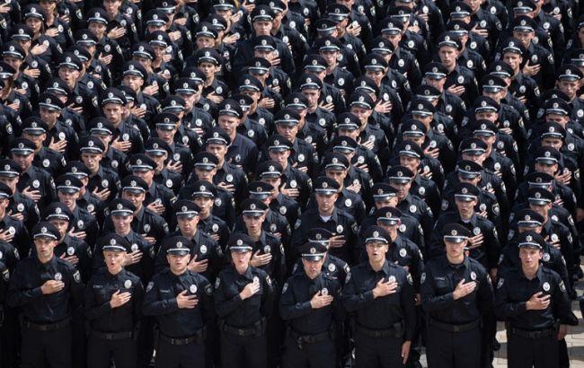 Фото: патрульна служба Києва прийняла присягу