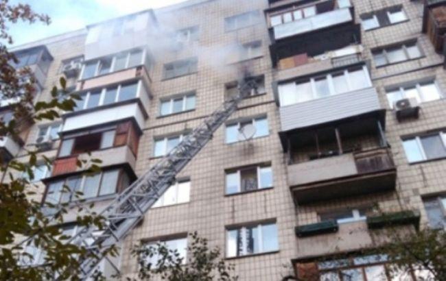 НаПечерске вмногоэтажке произошел пожар, есть погибший