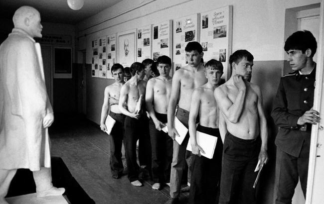 Фото: Призывники, Ульяновск, 1981 год (1991.lenta.ru)