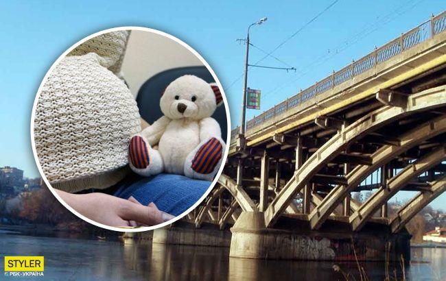 В Виннице патрульные сняли с моста беременную: впечатляющее видео