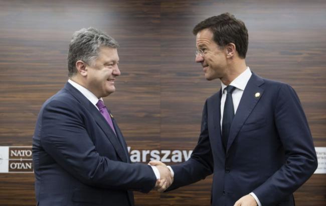 Фото: Петро Порошенко зустрівся з прем'єром Нідерландів Марком Рютте