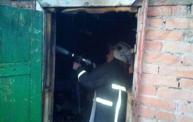 Фото: ліквідація пожежі в Кропивницькому (прес-центр ДСНС)