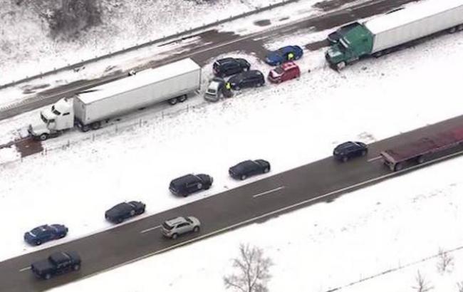 Фото: авария в Мичигане