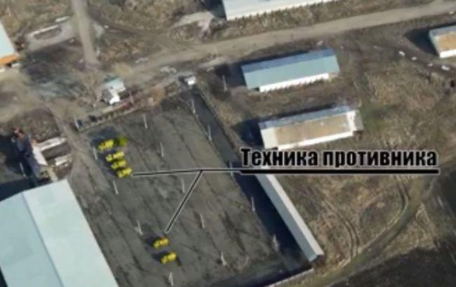 Аеророзвідка виявила в окупованому Новоазовську військові бази бойовиків