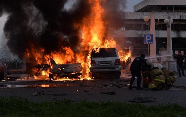 Фото: вибух біля телецентру у Сухумі
