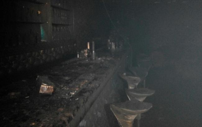 Фото: последствия пожара в ночном клубе во Львове
