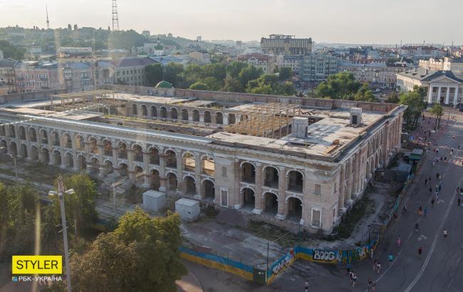 Гостинний двір у Києві з висоти (фото: РБК-Україна/ Віталій Носач)