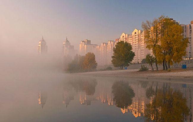 Фото: туман в столице
