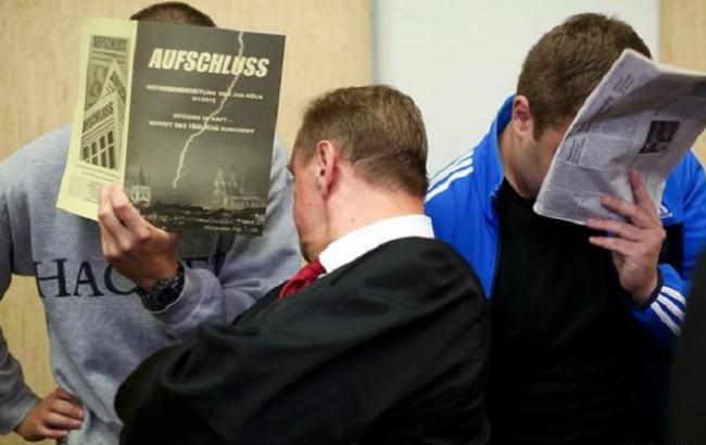 Фото: суд над російськими фанатами у Кельні