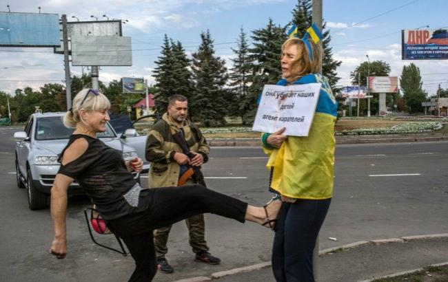 Фото: Ірину били в рідному Донецьку (ЖЖ)