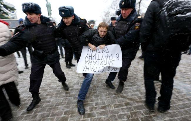 У Москві затримали понад 30 учасників протестних акцій