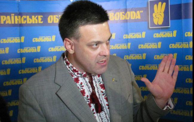 """Тягнибок и другие """"свободовцы"""" пришли на допрос по делу о расстрелах на Майдане"""