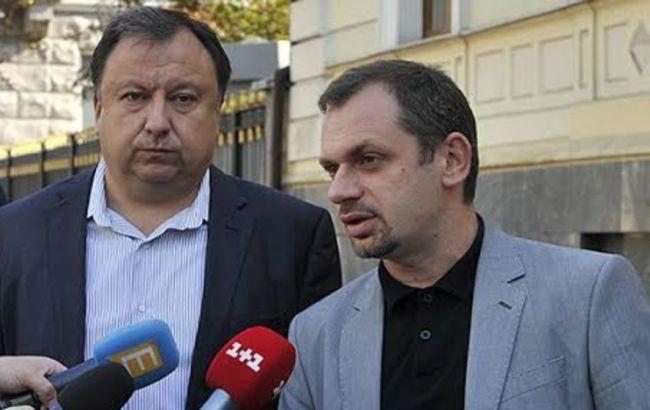 Фото: народні депутати Андрій Левус та Микола Княжицький