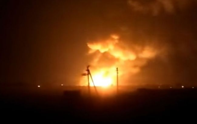 Фото: взрыв в Харьковской области