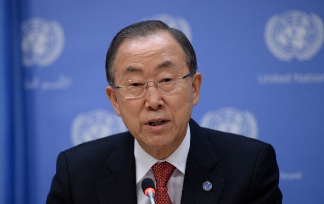 Фото: генсек ООН Пан Ги Мун
