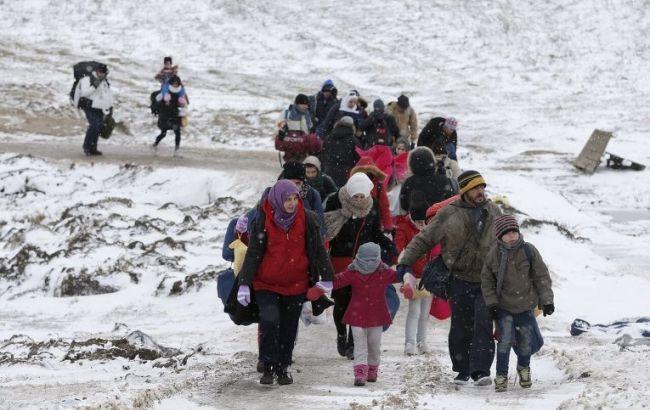 Фото: мігранти з Близького Сходу в Сербії