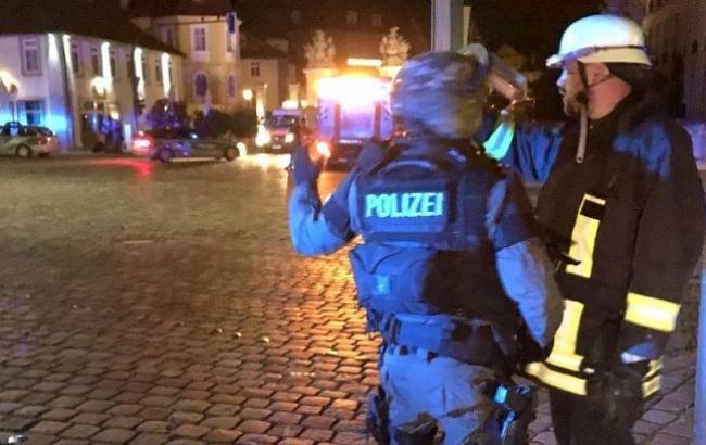 Фото: взрыв в Ансбахе