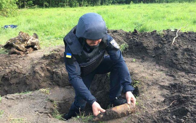 В Винницкой области в парке нашли более 700 снарядов времен Второй мировой