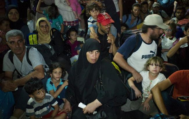 Фото: беженцы с ближнего востока