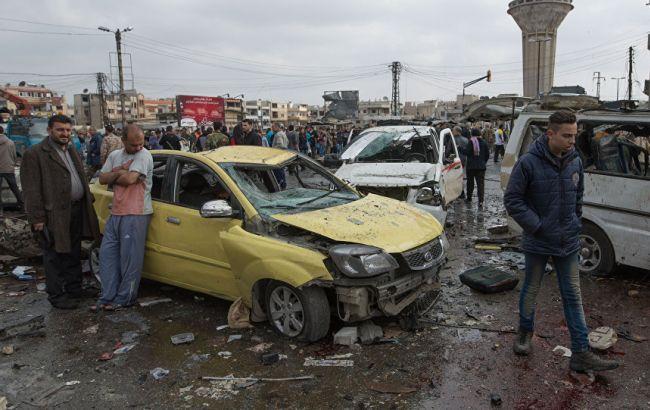 Фото: последствия взрывов в Хомсе