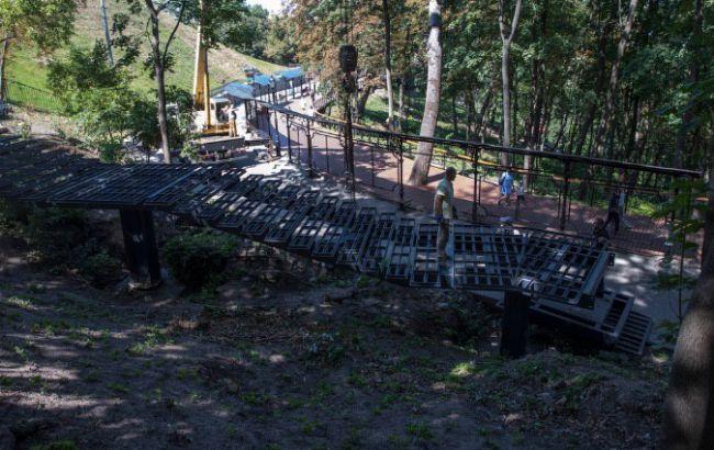 Кличко показал строительство лестницы к Аллее художников и Владимирской горке
