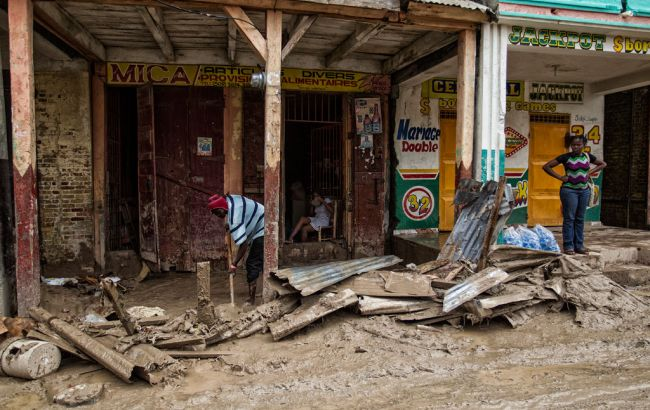Фото: последствия урагана в Гаити
