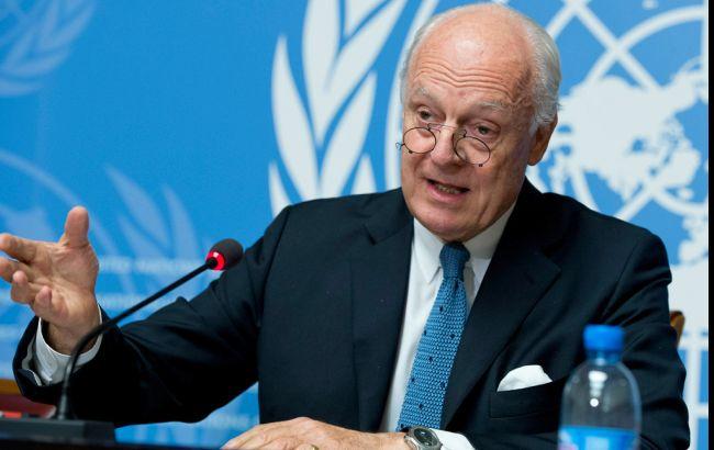 Фото: Стаффан де Мистура назвал дату новых переговоров по Сирии (пресс-центр ООН)
