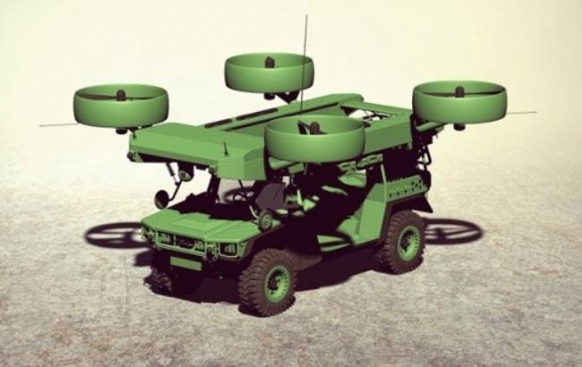 Украинские разработчики представили проект летающего бронеавтомобиля