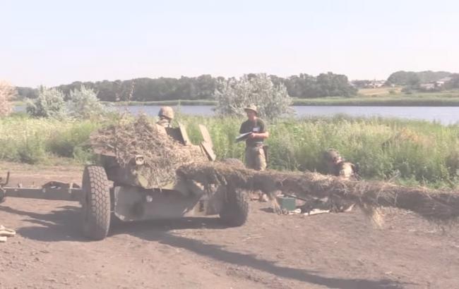 Українські артилеристи в АТО (скріншот youtube.com/Військове телебачення України)
