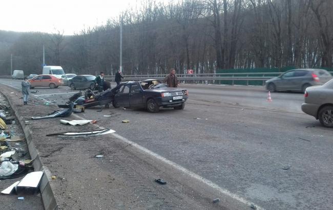 В Крыму в аварии пострадали 8 человек