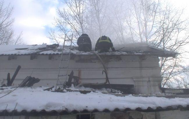 В Харькове на пожаре в нежилом здании погибли 2 человека