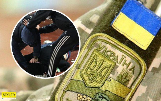 Под Киевом пьяная компания напала на ветерана АТО и его маму: полиция разводит руками