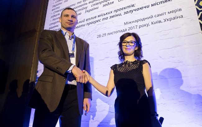 Фото: церемония открытия Международного саммита мэров (kiev.klichko.org)