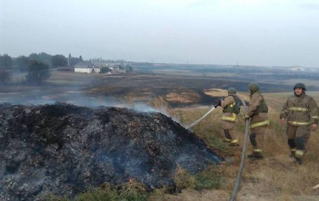 Пожежу наскладах боєприпасів вДонецькій області ліквідовано