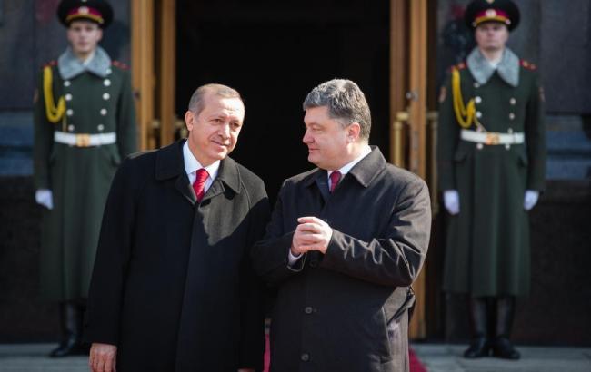 Фото: Петр Порошенко и Реджеп Эрдоган