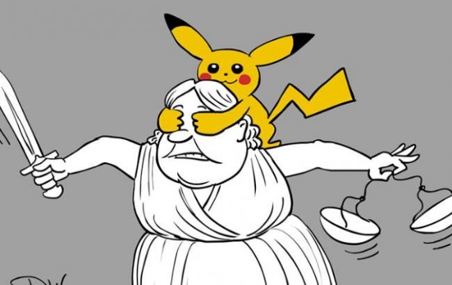 Відомий карикатурист висміяв вирок ловцю покемонів