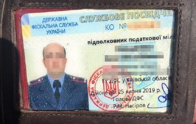 СБУ затримала на хабарі у 400 тис. гривень працівника ДФС Київської області