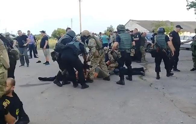 Фото: конфлікт на агропідприємстві у с. Бережинка (скріншот із відео)
