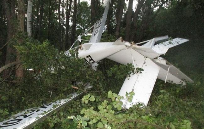 Фото: последствия падения самолета