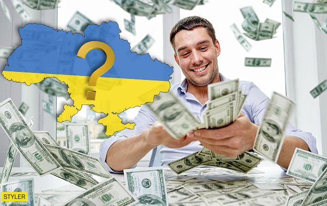 """Скільки в Україні мільйонерів: назвали """"найбагатші"""" регіони"""