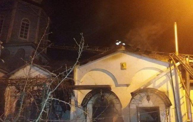 Фото: пожежа в церкві в Гостомелі
